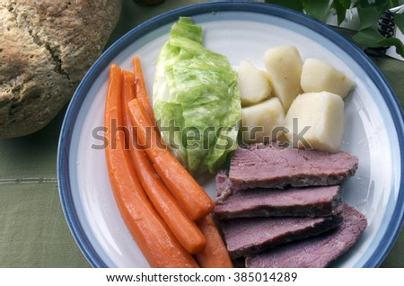 Corn Beef And Cabbage Plate