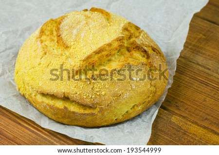 Corn bread - stock photo