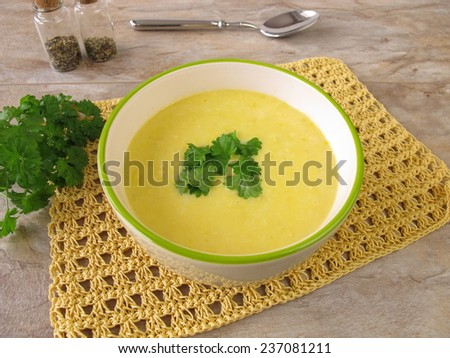 Corn cream soup  - stock photo