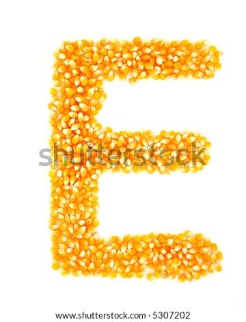 Corn E - stock photo