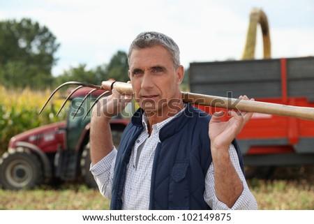 Corn farmer - stock photo