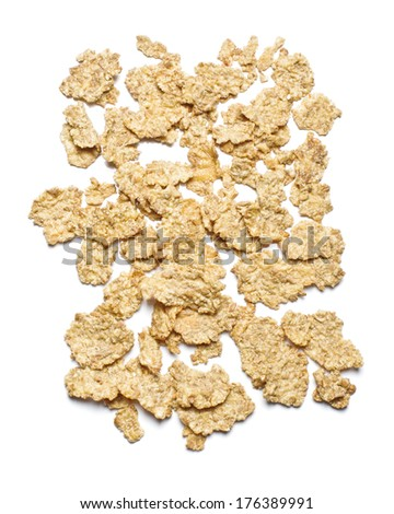 Corn flakes isolated on the white background