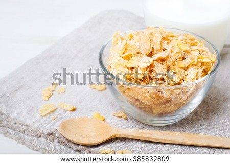 corn flakes withe spoon