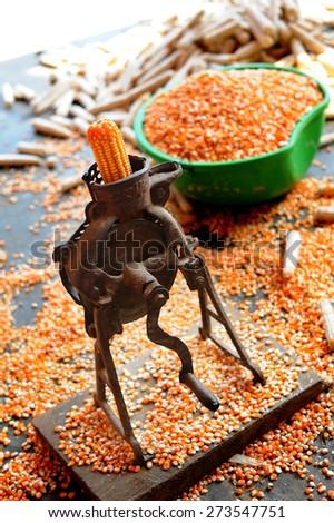 corn grinder - stock photo