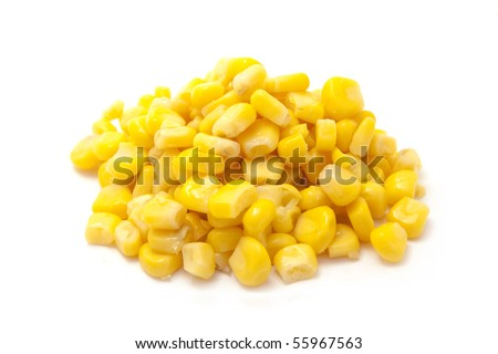 corn isolated on white - stock photo