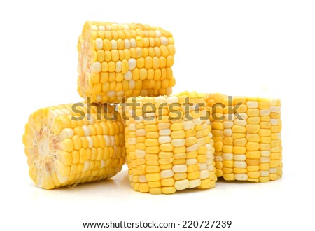 corn on a white background  - stock photo