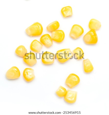 corn on a white background. close-up - stock photo