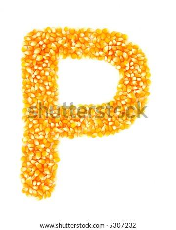 Corn P - stock photo