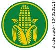 Corn symbol - stock photo