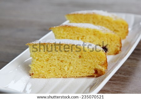 Cornbread slices - stock photo