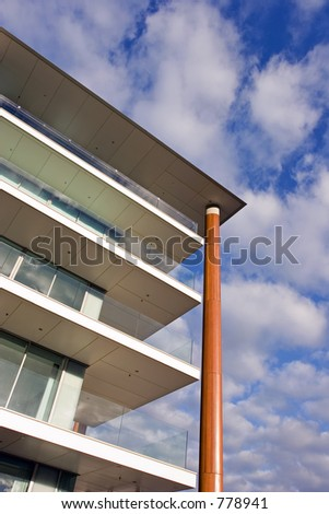 Corner and Balcony detail of Luxury apartments in Auckland - stock photo