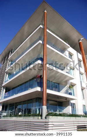 Corner apartments in Auckland, New Zealand - stock photo
