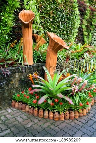 Corner decorated in garden Public - stock photo