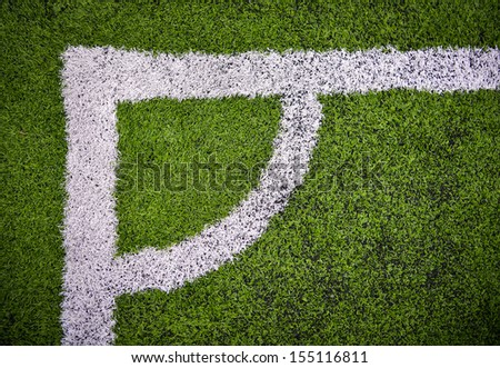 corner in the soccer field