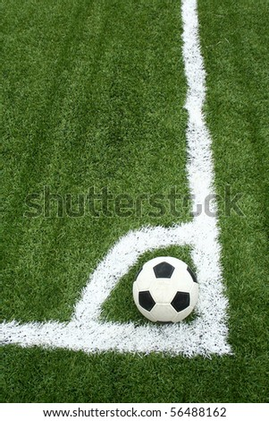 corner kick - stock photo