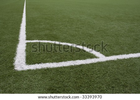 Corner lines on Soccer Field