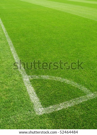 Corner of a soccer field - stock photo