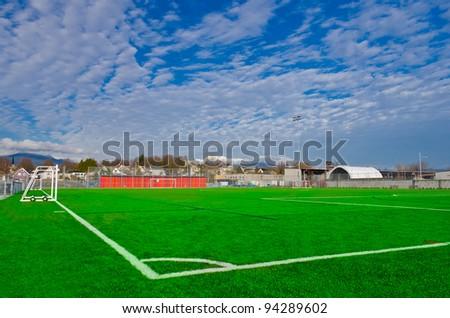 Corner of a soccer field. - stock photo