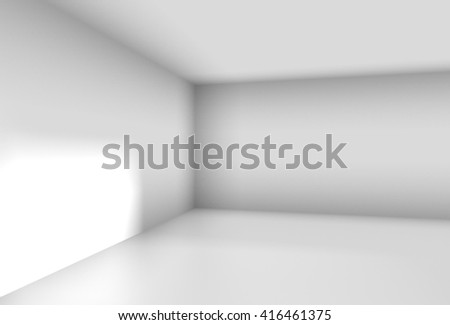 corner of a white room in a simple 3D Illustration - stock photo
