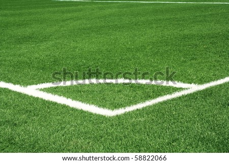 Corner of football field - stock photo