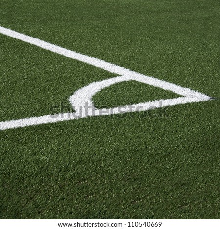 Corner of the soccer field