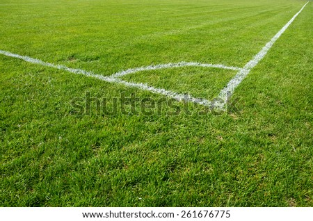 Corner of the soccer field - stock photo