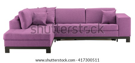 Corner sofa isolated on white include clipping path