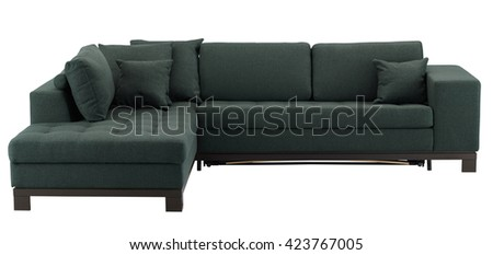 Corner sofa isolated on white include clipping path - stock photo