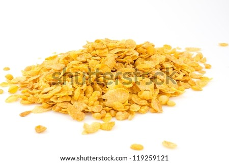 cornflakes, cereal - stock photo