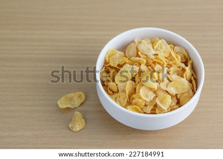 Cornflakes in the white bowl