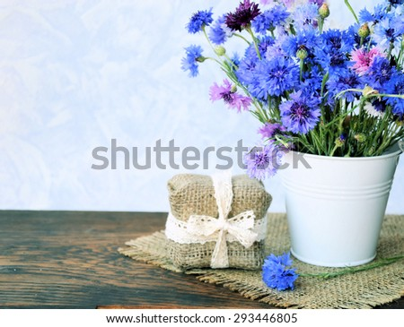 cornflowers flowers and gift