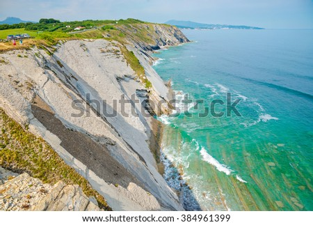 Corniche d'Urrugne, Atlantic Ocean, Basque Country - Pays Basque, Aquitaine, France