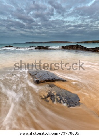 Cornish Beach, Cornwall, UK - stock photo