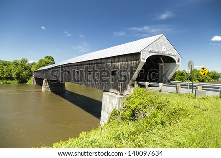 Cornish Windsor Covered Bridge, the longest in the United States.