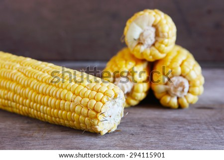 Corns on Wooden for Background Uses. - stock photo