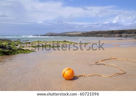 Cornwall Beach, England - stock photo