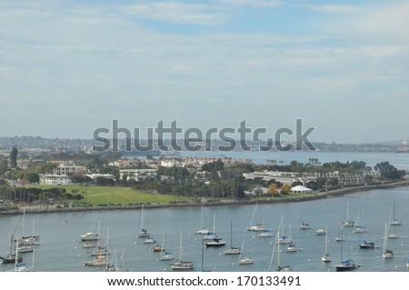 Coronado Island near San Diego in California - stock photo