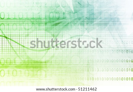 Corporate Background as a Tech Presentation Art