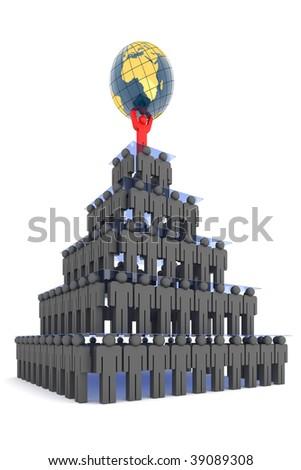 Corporate body. Hi-res digitally generated image. - stock photo