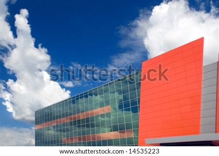 Corporate building and the cloudy sky