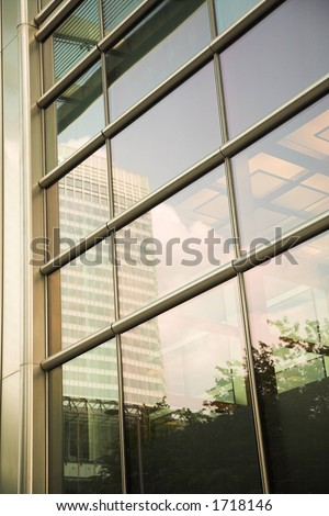 corporate building detail - stock photo