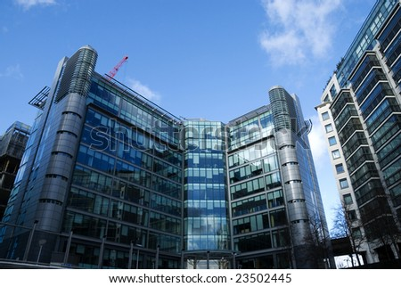 Corporate Building.Modern office & residential architecture in  London.