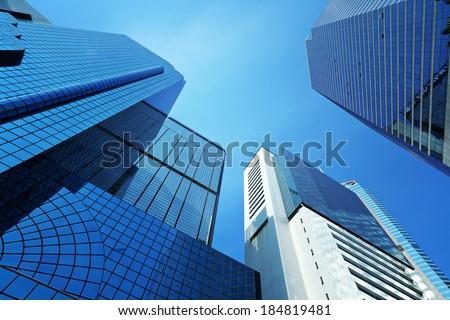 Corporate building to sky - stock photo