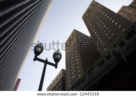 Corporate Buildings and Skyscrapers in Chicago - stock photo