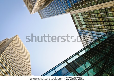 Corporate buildings in London - stock photo