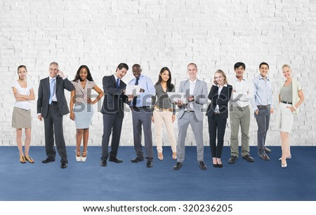 Corporate Business Team Communication Connection Concept