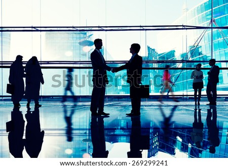 Corporate Business Team Connection Discussion Working Concept - stock photo