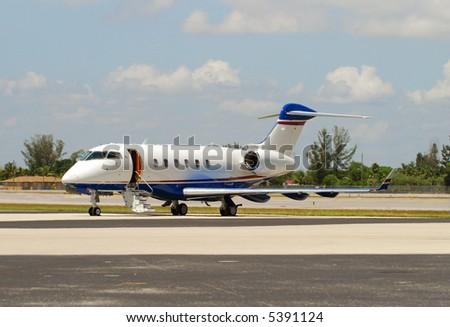 Corporate charter jet - stock photo