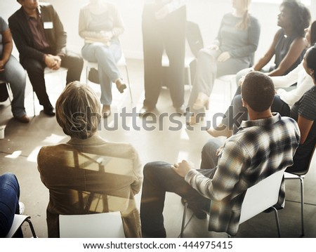 Corporate Communication Business Sharing Support Concept - stock photo