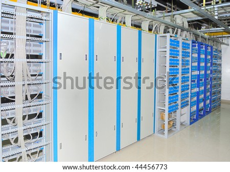 Corporate communications equipment in a technology data center see more in my portfolio - stock photo